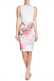 Ted Baker London   Painted Posie Pencil Skirt   Nordstrom Rack at Nordstrom Rack