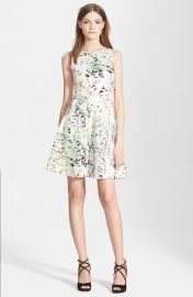 Ted Baker London   x27 Sapira Crystal Droplets  x27  Neoprene Skater Dress   Nordstrom at Nordstrom