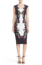 Ted Baker London  Bejewelled Shadows  Print Front Body-Con Dress at Nordstrom