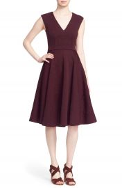 Ted Baker London  Dhamira  V-Neck Jacquard Fit   Flare Dress at Nordstrom