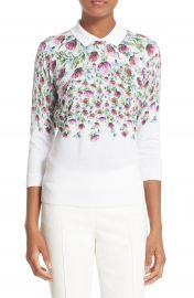 Ted Baker London  Karn  Thistle Print Cotton Sweater at Nordstrom