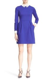Ted Baker London  Moona  Embellished Collar Dress in Blue at Nordstrom