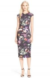 Ted Baker London  Raisie  Floral Print Body-Con Midi Dress at Nordstrom