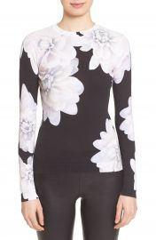 Ted Baker London  Traze   Floral Print Cotton Sweater at Nordstrom