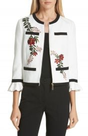 Ted Baker London Aimmii Embroidered Jacket   Nordstrom at Nordstrom