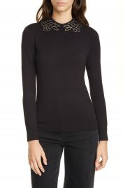 Ted Baker London Azaleo Embellished Neck Sweater   Nordstrom at Nordstrom