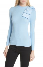 Ted Baker London Bow Detail Ribbed Sweater at Nordstrom