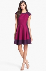 Ted Baker London Colorblock Woven A-Line Dress at Nordstrom