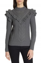 Ted Baker London Denita Ruffle Yoke Sweater at Nordstrom