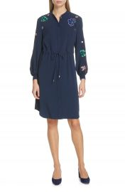 Ted Baker London Dioss Embroidered Shirtdress   Nordstrom at Nordstrom