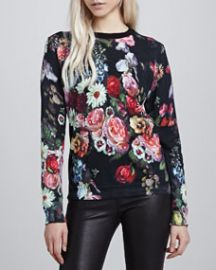 Ted Baker London Edryss Oil Painting Printed Sweater at Neiman Marcus