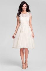 Ted Baker London Embroidered Mesh Fit andamp Flare Dress at Nordstrom