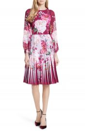 Ted Baker London Esperan Serenity Contrast Pleated Skirt Dress at Nordstrom