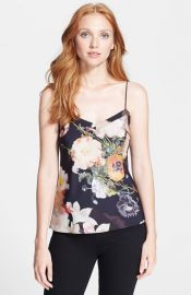Ted Baker London Floral Print Scallop Trim Camisole at Nordstrom
