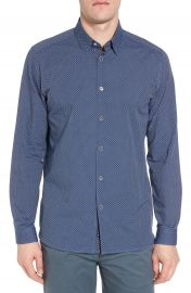 Ted Baker London Holic Trim Fit Geometric Sport Shirt   Nordstrom at Nordstrom