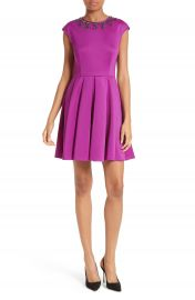 Ted Baker London J adore Embellished Fit   Flare Dress at Nordstrom