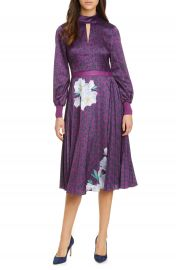 Ted Baker London Jhenni Wilderness Mix Print Long Sleeve Dress   Nordstrom at Nordstrom