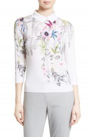 Ted Baker London Kikka Passion Flower Print Sweater at Nordstrom