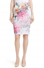 Ted Baker London Melodey Painted Posie Pencil Skirt at Nordstrom