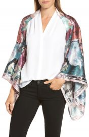 Ted Baker London Mirrored Minerals Silk Cape Scarf at Nordstrom
