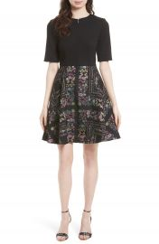 Ted Baker London Mooris Unity Floral Jacquard Dress at Nordstrom