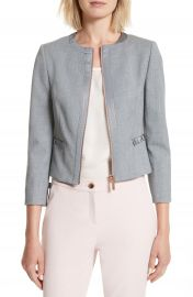 Ted Baker London Nadae Bow Detail Crop Jacket at Nordstrom