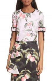 Ted Baker London Peach Blossom Bow Sleeve Top at Nordstrom