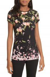 Ted Baker London Peach Blossom Fitted Tee at Nordstrom