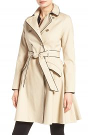 Ted Baker London Piped Belted A-Line Macintosh Coat at Nordstrom