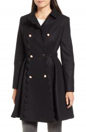 Ted Baker London Scallop Trim Wool Blend Coat   Nordstrom at Nordstrom