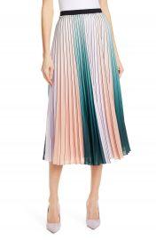Ted Baker London Selmma Stripe Pleat Midi Skirt   Nordstrom at Nordstrom