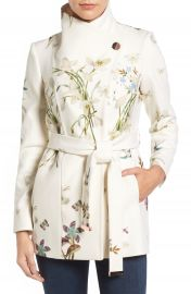 Ted Baker London Spring Meadow Wool Blend Wrap Coat at Nordstrom