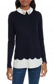 Ted Baker London Suzaine Embellished Layered Look Sweater at Nordstrom