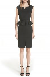 Ted Baker London Ted Working Title Textured Peplum Dress at Nordstrom