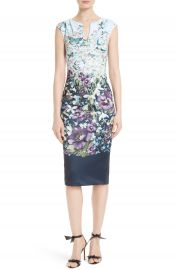 Ted Baker London Tiha Floral Print Sheath Dress at Nordstrom
