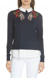 Ted Baker London Toriey Layered Look Sweater   Nordstrom at Nordstrom