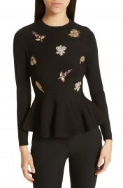 Ted Baker London Tynna Embellished Sweater   Nordstrom at Nordstrom