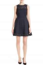 Ted Baker London Verony Eyelet Fit   Flare Dress at Nordstrom