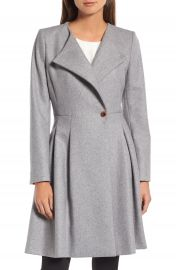 Ted Baker London Wool Blend Asymmetrical Skirted Coat at Nordstrom