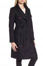 Ted Baker London Wool Blend Long Wrap Coat at Nordstrom