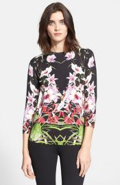Ted Baker London and39Adolieand39 Floral Print Sweater at Nordstrom