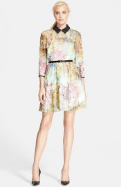 Ted Baker London and39Pretty Treesand39 Print Belted Dress at Nordstrom