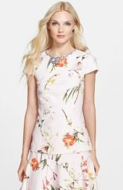 Ted Baker London and39Xanaand39 Cap Sleeve Top at Nordstrom