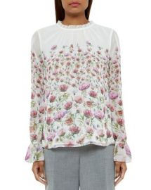 Ted Baker Luceal Floral Print Blouse at Bloomingdales