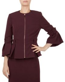 Ted Baker Maggi Pleated Peplum Jacket Women - Bloomingdale s at Bloomingdales