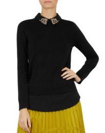 Ted Baker Moliiee Embellished-Collar Sweater Women - Bloomingdale s at Bloomingdales