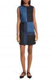 Ted Baker Morfee London Colorblock Denim A-Line Dress   Nordstrom at Nordstrom