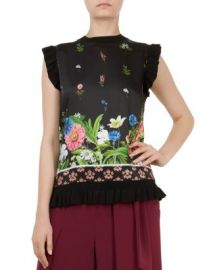 Ted Baker Myshell Florence Frill-Trim Top Women - Bloomingdale s at Bloomingdales