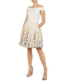 Ted Baker Oceanne Elegant-Print Dress Women - Bloomingdale s at Bloomingdales