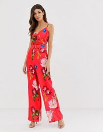 Ted Baker Piiper wrap jumpsuit in berry sundae   ASOS at Asos
